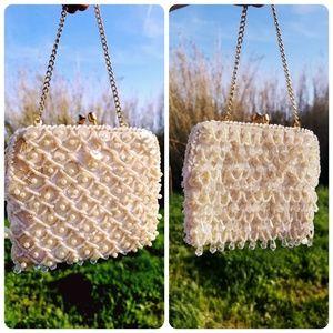 Vintage Mini Flapper Style Beaded Sequin Handbag